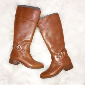 Michael Kors brown leather boots size 7
